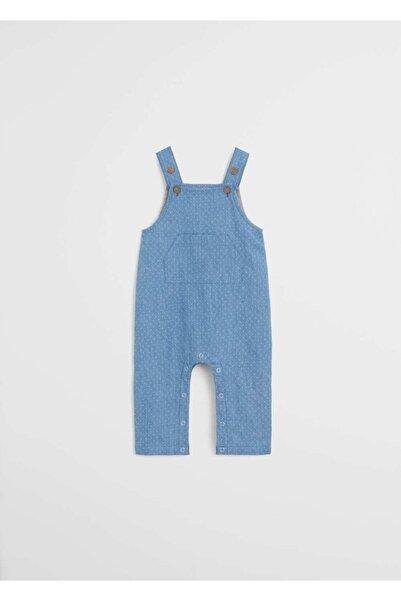 MANGO Baby Bebek Mavi Puantiyeli Salopet