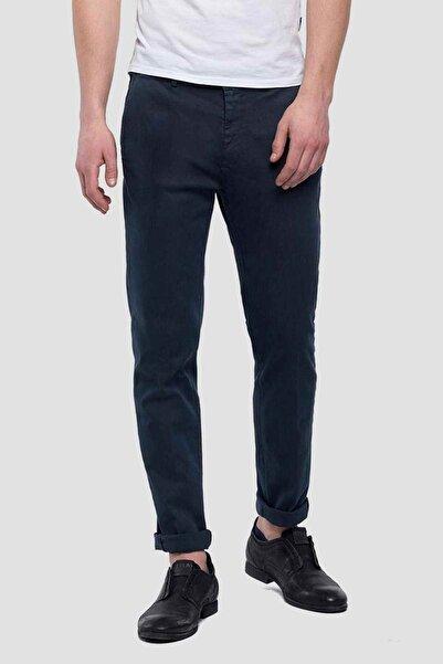 Replay Erkek Lacivert Hyperflex Zeumar Slim Fit Pantolon