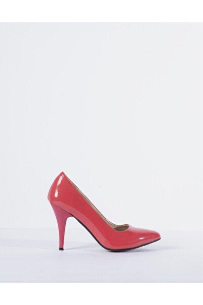 Vision Kadın Pembe Rugan Topuklu Ayakkabı