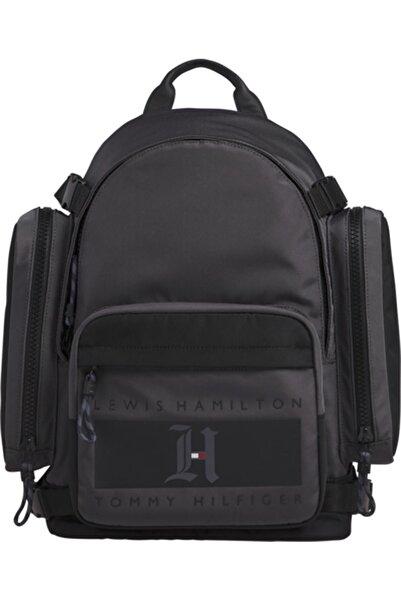 Tommy Hilfiger Erkek Gri Lh Nylon Backpack Sırt Çantası