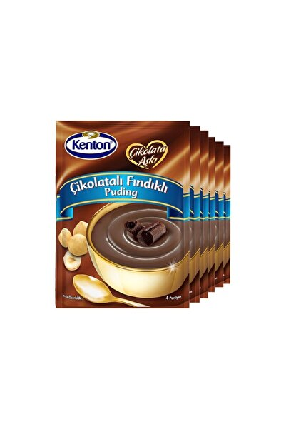 Kenton Puding Çikolata Aşkı Çikolata Fındıklı 100 Gr X 6'lı Paket