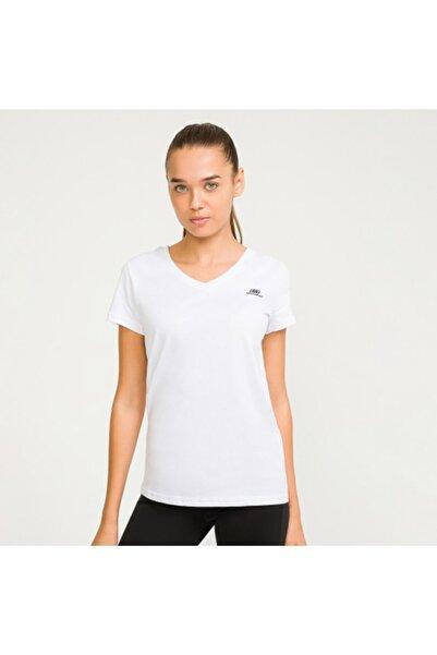 SKECHERS W Basic V Neck W Tee Kadın Beyaz Tshirt S192247-100