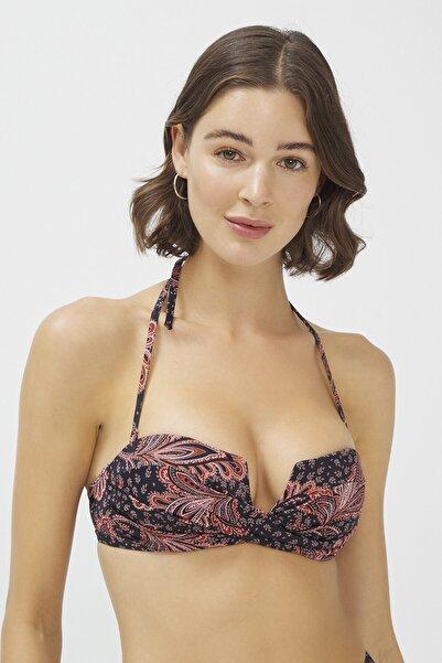 Penti Kadın Çok Renkli Meri U Twist Bikini Üstü