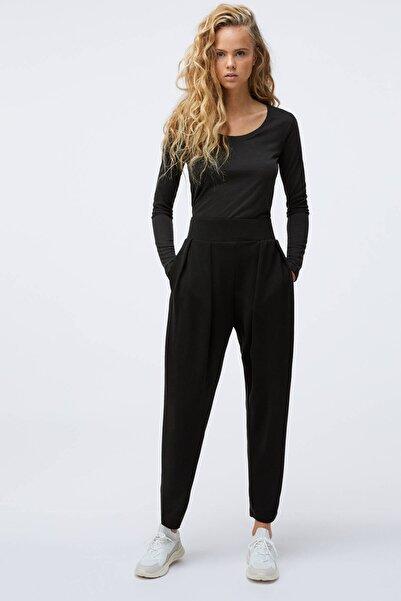 Oysho Kadın Siyah Yumuşak Dokulu Pantolon