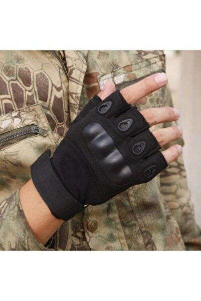 BAŞARI TAKTİKAL Askeri Kesik Parmak Kemik Eldiven Operasyon Eldiveni Siyah