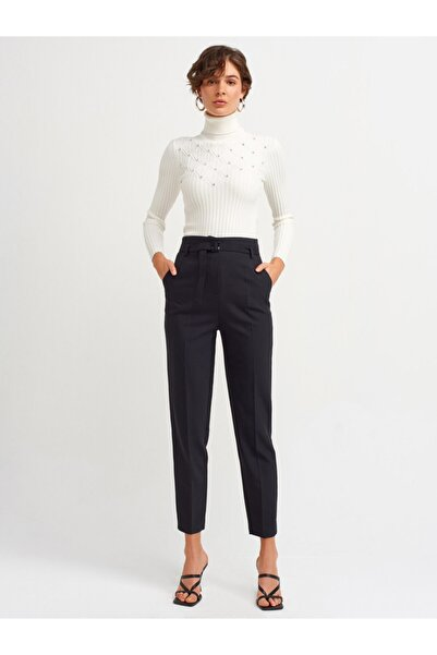 Dilvin 4621 Kadın Kemerli Kumaş Pantolon