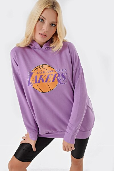 Modakapimda Lila Lakers Kapişonlu Sweat