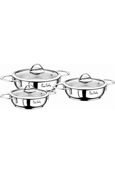 Pierre Cardin Beyaz Planet 6 Parça Sahan Seti