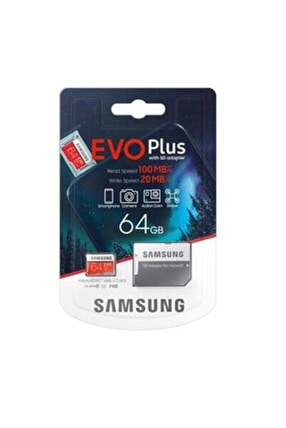 64gb Evo Plus Micro Sd Hafıza Kartı C10 U1 4k 100mb/20sn Mb-mc64ha/tr