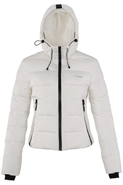 lumberjack Kadın Beyaz Apreskı Coat Mont