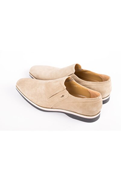 Cesare Paciotti Erkek Bej Loafer Ayakkabı