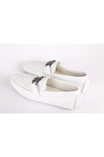 Roberto Cavalli Erkek Beyaz Loafer Ayakkabı