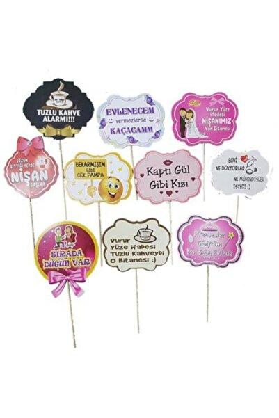 Happyland 10 Ad Söz Nişan Kız Isteme Konuşma Balonu Çubukları Sopalı Söz
