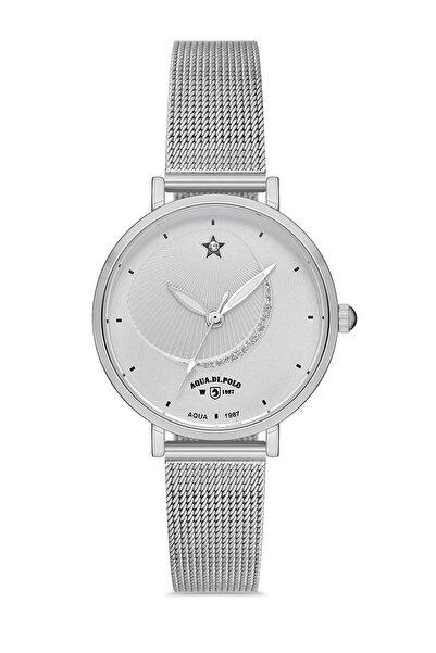 Aqua Di Polo 1987 Kadın Gümüş Kol Saati Apwa036603