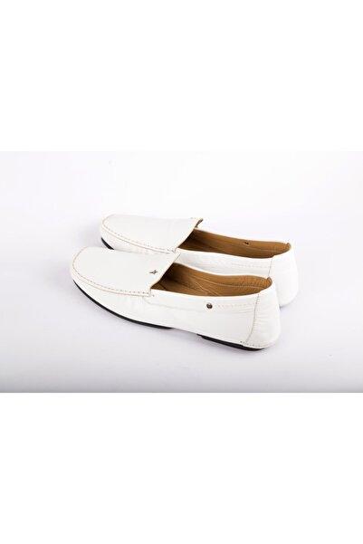 Cesare Paciotti Erkek Beyaz Loafer Ayakkabı