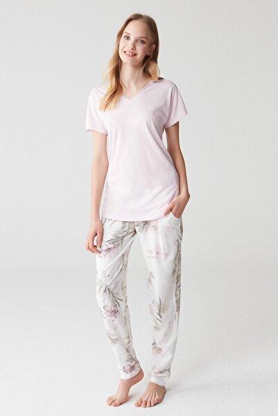 U.S. Polo Assn. Kadın Pembe Pijama Takım