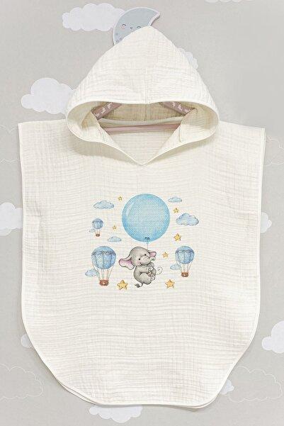 Tuğba Kuğu Unisex Bebek Beyaz Panço