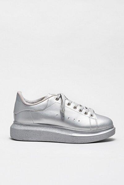 Elle Shoes ZANDAA Gümüş Kadın Sneaker