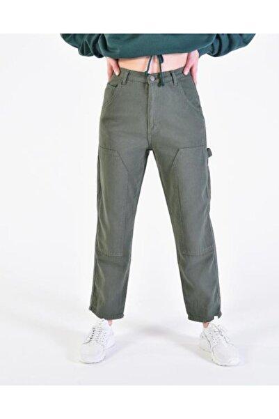 Vision Kadın Haki Cep Detaylı Pantolon