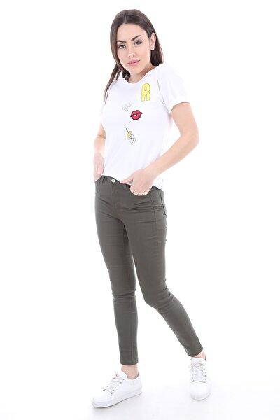 Bigdart Kadın Haki Cepli Gabardin Pantolon 6322
