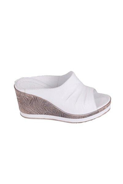 Venüs Beyaz Dolgu Topuk Kadın Sandalet 2015702