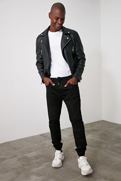 TRENDYOL MAN Siyah Erkek Nervürlü Jogger Pantolon TMNAW21PL0215
