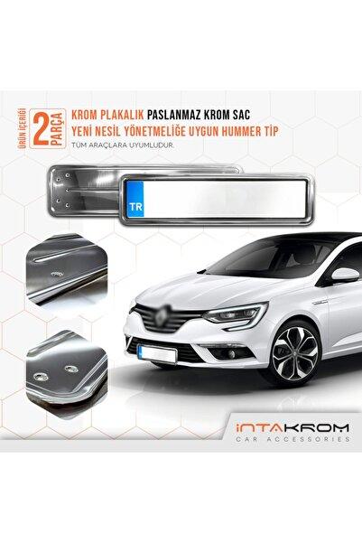 İntachrom Renault Megane Krom Plakalık - Hummer Tip 2 Adet