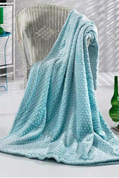 Merinos Aqua Mint Pearl Tek Kişilik Tomurcuk Battaniye 150x220