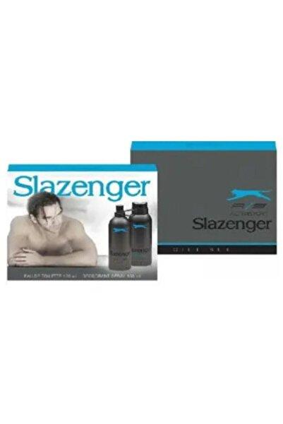 Slazenger Edt 125 Ml + 150 Ml Erkek Deodorant - Mavi-