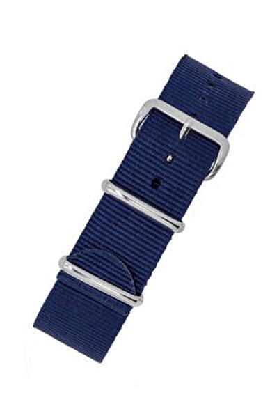 Saat Uyumlu 22mm Lacivert Renk Nato Bez Perlon Örme Kumaş Hasır Saat Kordonu