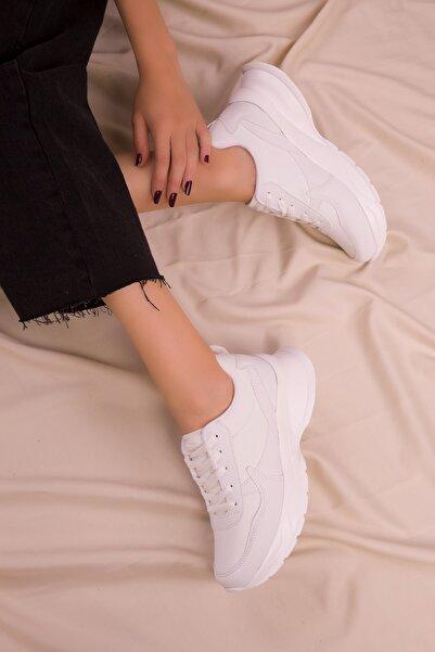 SOHO Beyaz Kadın Sneaker 15564