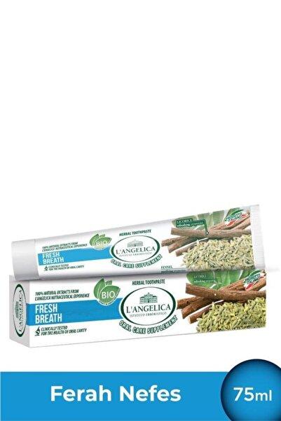 Langelica Rezene Nane Diş Macunu Ferah Nefes - Fresh Breath Herbal Toothpaste Fennel-mint 75 Ml