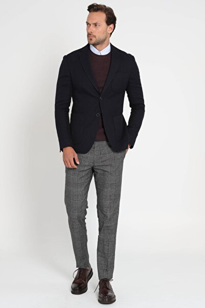 Lufian Vıeste Spor Blazer Ceket Slim Fit Lacivert