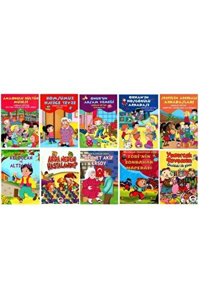 Şiir Çocuk Yayınları Okul Öncesi Değerler Eğitimi Hikaye Seti 10 Kitap - 1