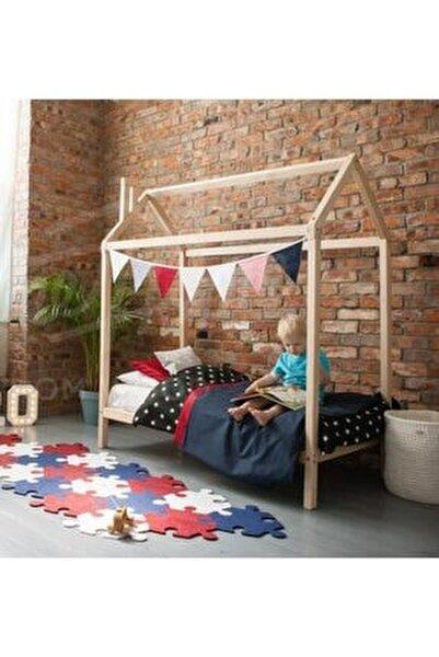 Markaawm Montessori Çocuk Yatak Doğal Çam 90x190 Karyola
