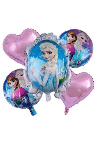Frozen Elsa Anna Karlar Ülkesi 5'li Folyo Balon Set