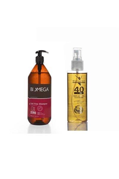 BIOMEGA Tuzsuz Şampuan 1000 Ml+40 Bitkili Doğal Saç Bakım Yağı 150 Ml