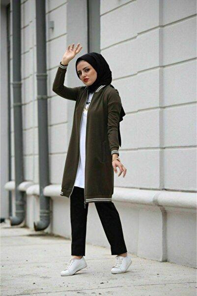 Camelya Fashion Kadın Haki Spor Üçlü Takım