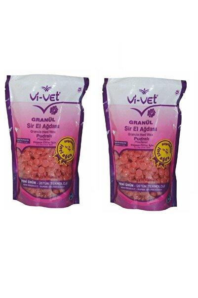Vi-vet Soyulabilir Pudralı Granül Boncuk Ağda 2 Adet