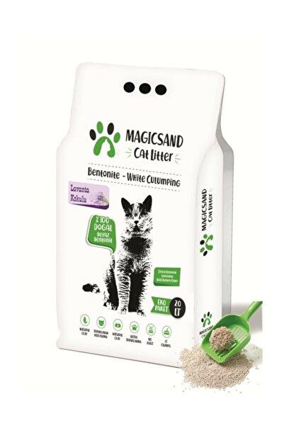 magicsand Cat Litter Lavanta Kokulu Kedi Kumu Ince Taneli 20 Litre