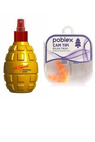 Eda Taşpınar Bronzing Bomb Bronzlaştırıcı Bomba 200 Ml+ Poblex Çam Tipi Kulak Tıkacı