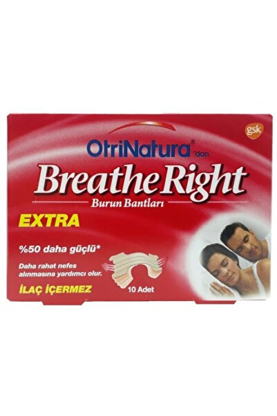 Breathe Right Burun Bantları Extra 10 Adet