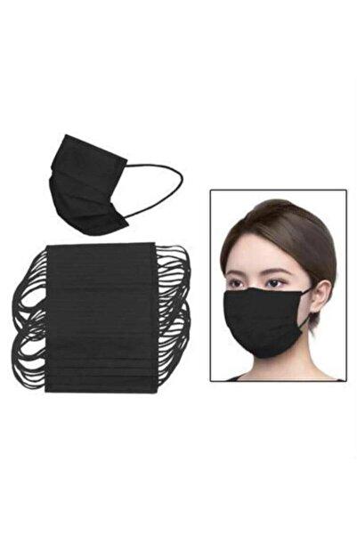 Medikal Maske 100 Adet 2 Kutu Siyah Telli 3 Katlı Tam Ultrasonik Cerrahi Maske Ce Belgeli