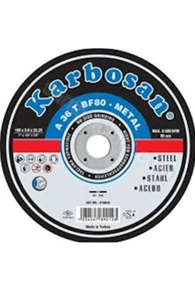 KARBOSAN 115*3.0*22.23 Metal Kesme Taşı
