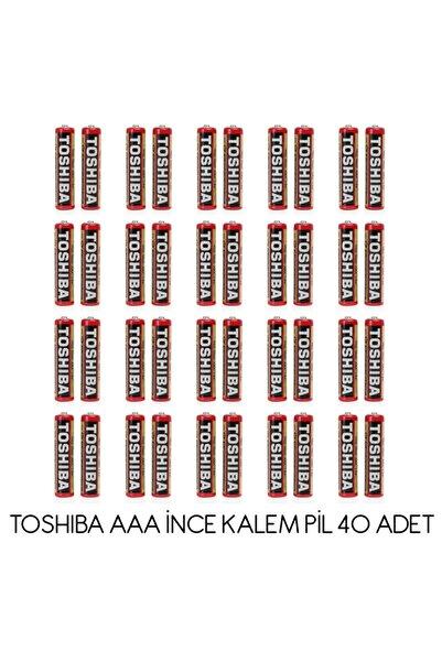 Toshiba Aaa R03kg Ince Pil Kumanda Pili 40lı Paket