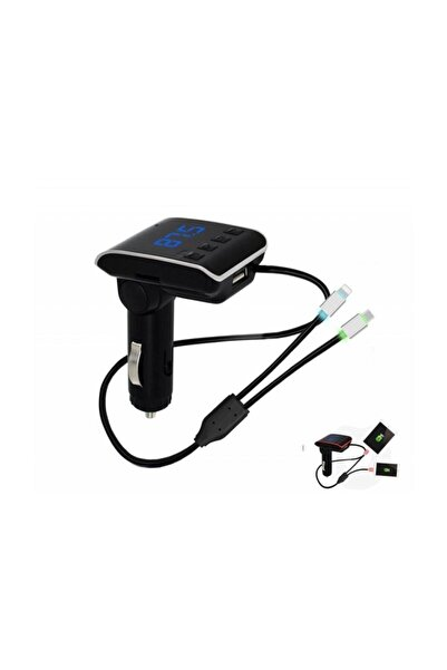 Concord Bluetooth Araç Kiti Fm Transmitter Hızlı Şarj Özellikli