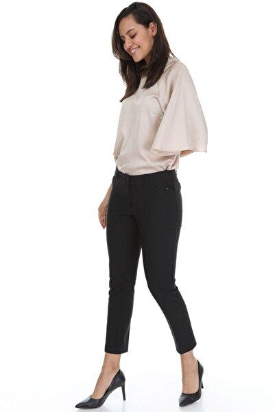 Modayız Kadın Siyah Likralı Pantolon 6a-3963