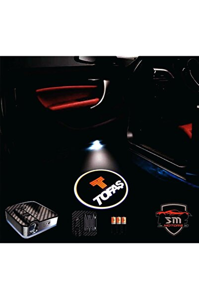 StrongMotors Tofaş Araçlar Için Pilli Yapıştırmalı Kapı Altı Led Logo