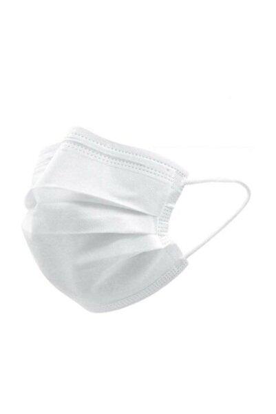 GLOBAL AS Beyaz 3 Katlı Lastikli Telli Kokusuz Cerrahi Maske 50'lik Kutu
