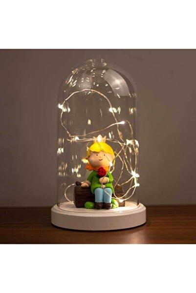 BY-LAMP Işıklı Cam Fanus Küçük Prens Figürlü Lamba
